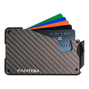 Fantom S 10 Coin Holder Carbon Fibre Wallet - Cards Fanned