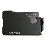 Fantom S 10 Regular Aluminium Wallet (Black) - Front View