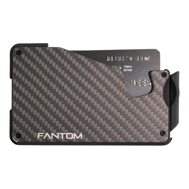 Fantom S 10 Coin Holder Carbon Fibre Wallet - Front View