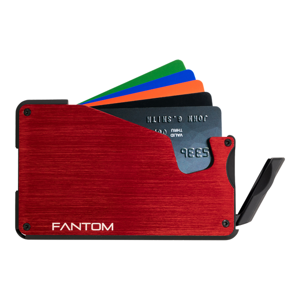 Fantom S 10 Coin Holder Aluminium Wallet (Red) - Instant Access