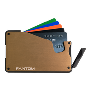 Fantom S 7 Coin Holder Aluminium Wallet (Gold) - Instant Access