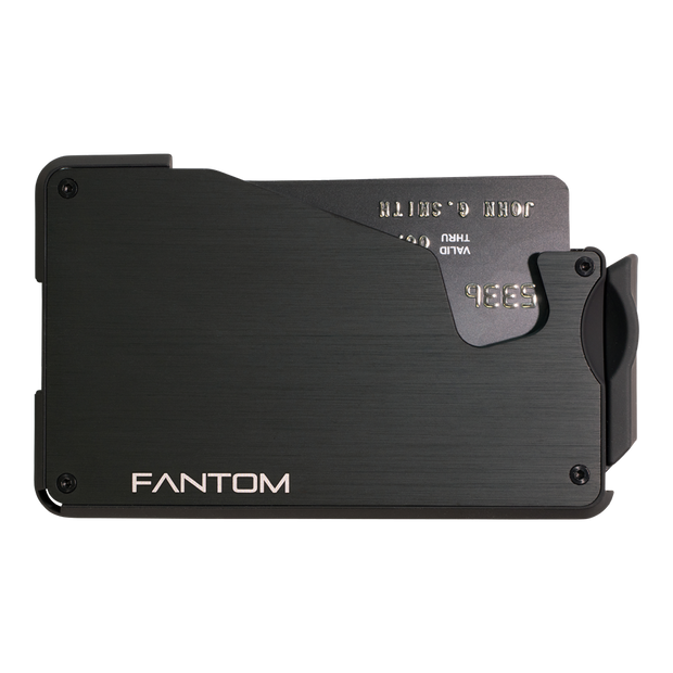 Fantom S 7 Regular Aluminium Wallet (Black) - Front View