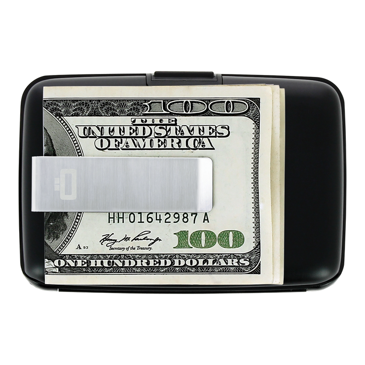 Ögon Stockholm Aluminium Money Clip Wallet (Black) - Money Clip