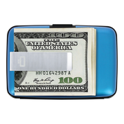 Ögon Stockholm Aluminium Money Clip Wallet (Blue) - Money Clip