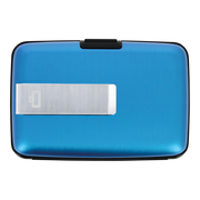Ögon Stockholm Aluminium Money Clip Wallet (Blue) - Front View