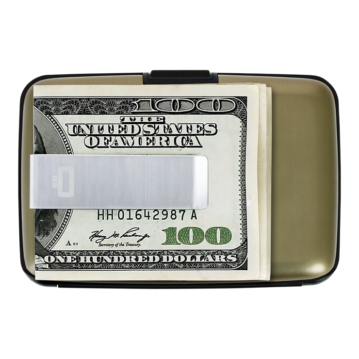 Ögon Stockholm Aluminium Money Clip Wallet (Dark Grey) - Money Clip