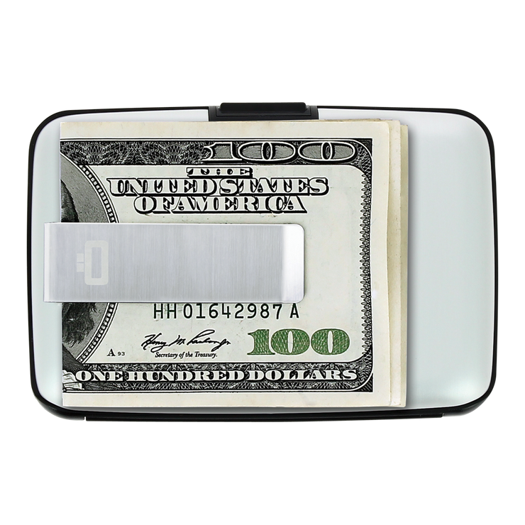 Ögon Stockholm Aluminium Money Clip Wallet (Silver) - Money Clip