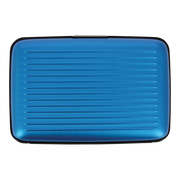Ögon Stockholm Aluminium Money Clip Wallet (Blue) - Back View