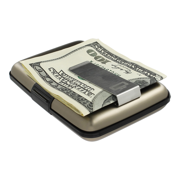 Ögon Stockholm Aluminium Money Clip Wallet (Dark Grey) - Slim Profile
