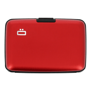 Ögon Stockholm Aluminium Wallet (Red) - Front View