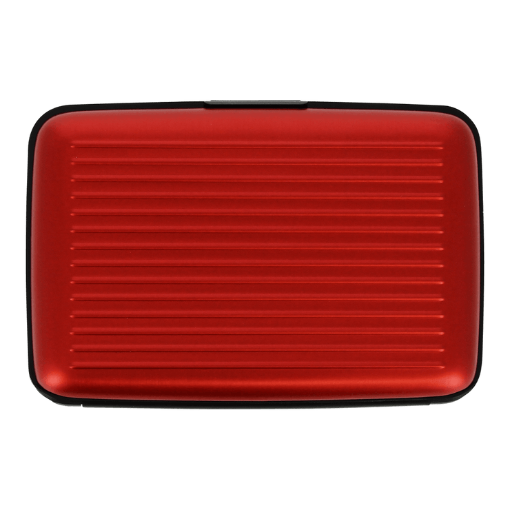 Ögon Stockholm Aluminium Wallet (Red) - Back View