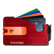 Fantom S 13 Coin Holder Aluminium Wallet (Red) - Orange Money Clip