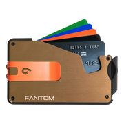 Fantom S 10 Regular Aluminium Wallet (Gold) - Orange Money Clip