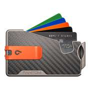 Fantom R 10 Carbon Fibre Wallet - Orange Money Clip
