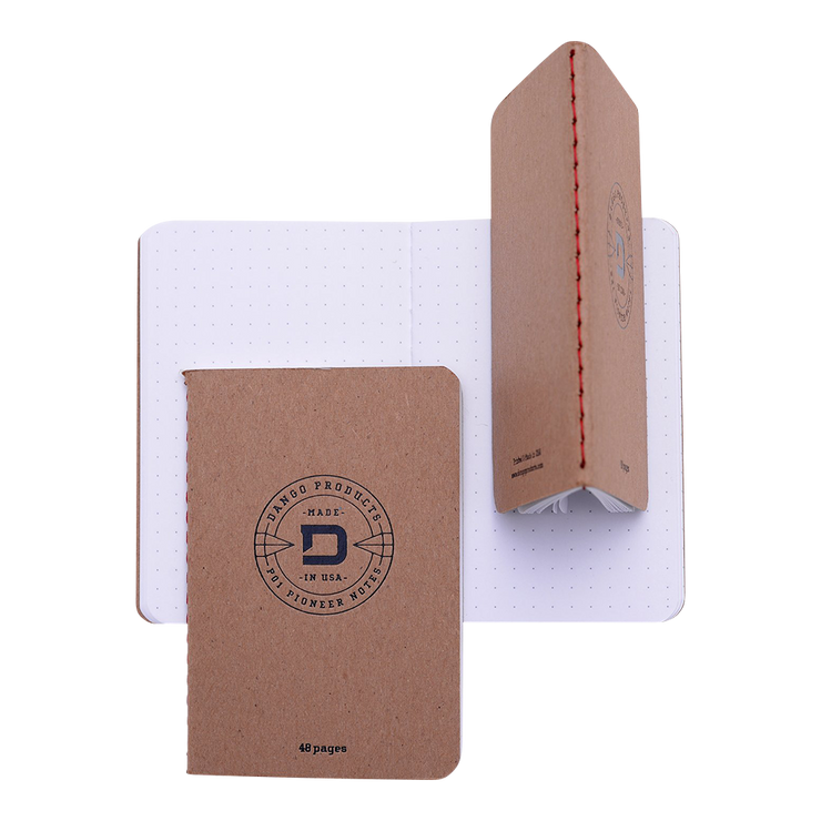 Dango D01 Dapper Pen Wallet (Raw Hide) - 48 Page Notebook Multiple View