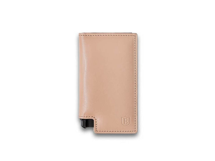 Ekster Parliament Leather Wallet (Blush Beige) - Front View