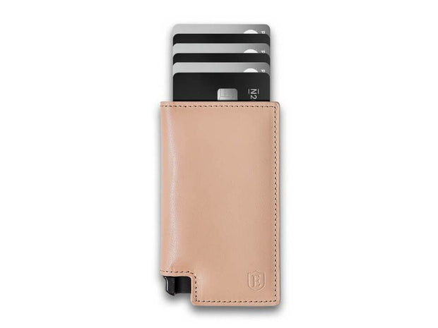 Ekster Parliament Leather Wallet (Blush Beige) - Cards Fanned