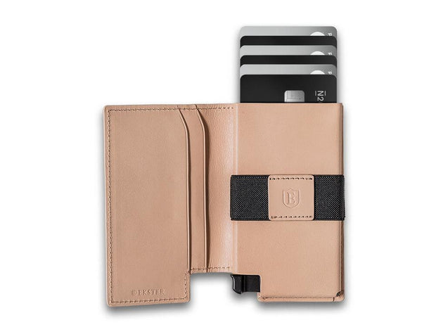 Ekster Parliament Leather Wallet (Blush Beige) - Open View