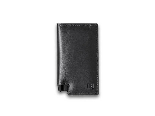 Ekster Parliament Leather Wallet (Nappa Black) - Front View