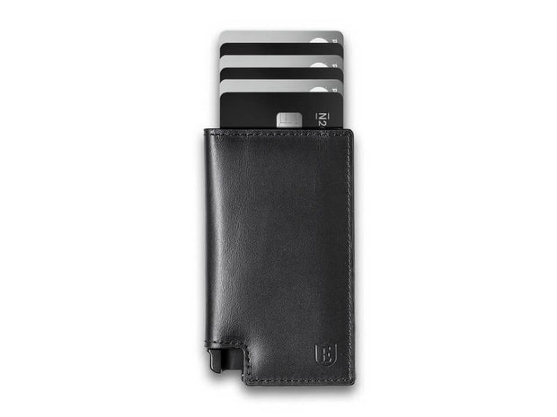 Ekster Parliament Leather Wallet (Nappa Black) - Cards Fanned