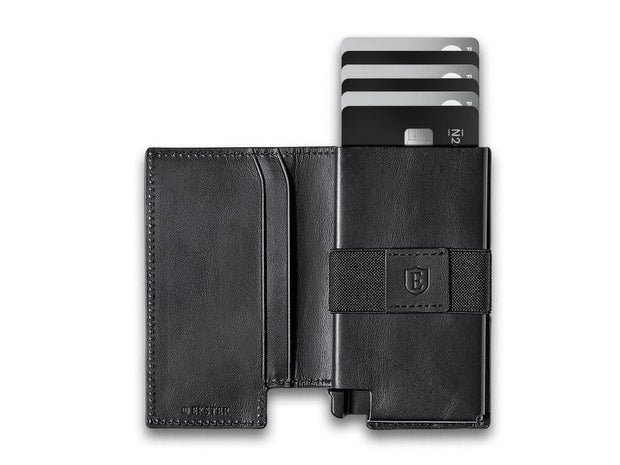 Ekster Parliament Leather Wallet (Nappa Black) - Open View