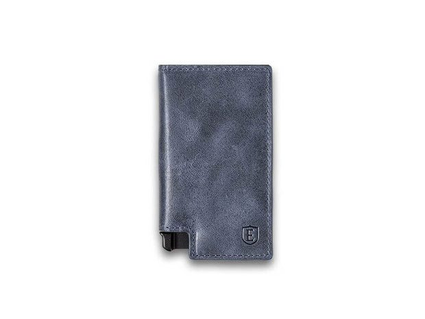 Ekster Parliament Leather Wallet (Steel Blue) - Front View