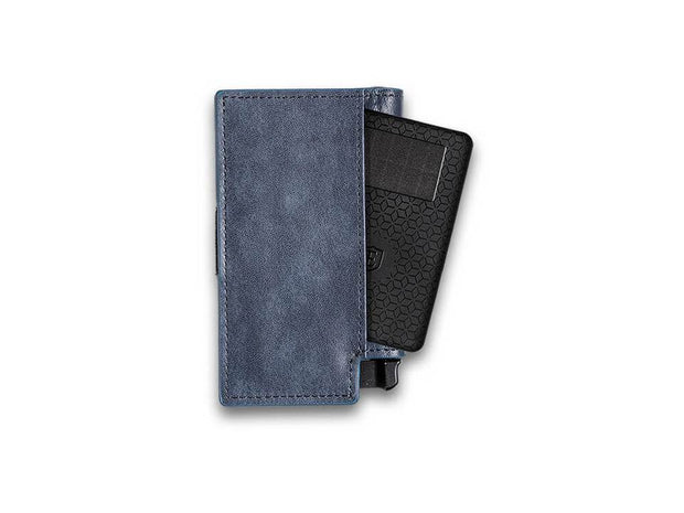 Ekster Parliament Leather Wallet (Steel Blue) - Tracker Card