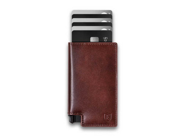 Ekster Parliament Leather Wallet (Classic Brown) - Cards Fanned