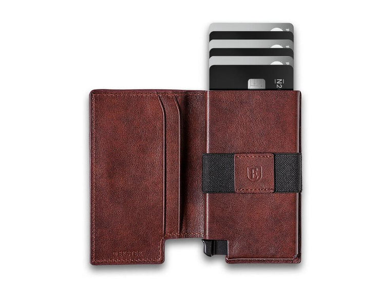 Ekster Parliament Leather Wallet (Classic Brown) - Open View