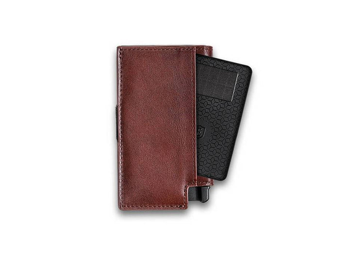 Ekster Parliament Leather Wallet (Classic Brown) - Tracker Card