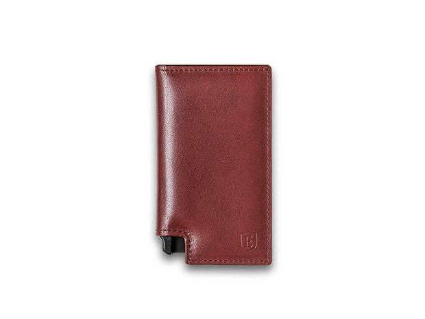 Ekster Parliament Leather Wallet (Merlot Red) - Front View