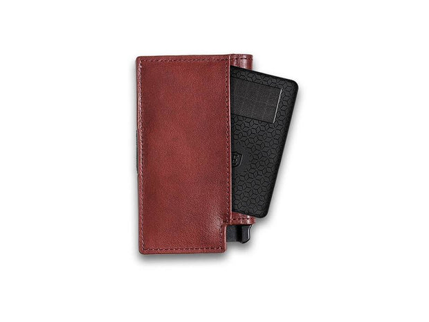 Ekster Parliament Leather Wallet (Merlot Red) - Tracker Card