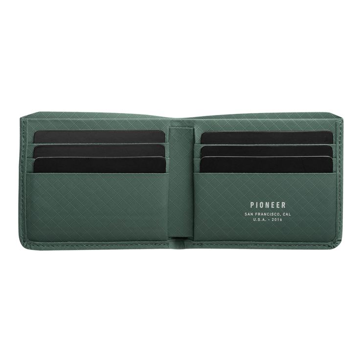 Pioneer Division 3PN Matte Billfold Wallet (Evergreen) - Open View