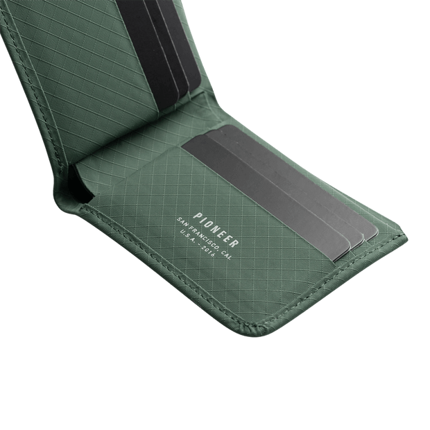 Pioneer Division 3PN Matte Billfold Wallet (Evergreen) - Cards