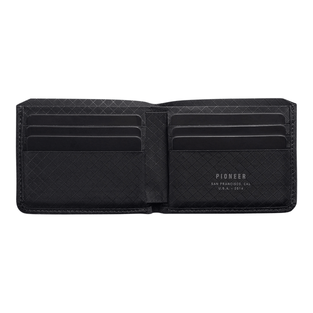Pioneer Division 10XD Ripstop Billfold Wallet (Onyx) - Open View