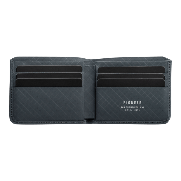 Pioneer Division 3PN Matte Billfold Wallet (Slate) - Open View