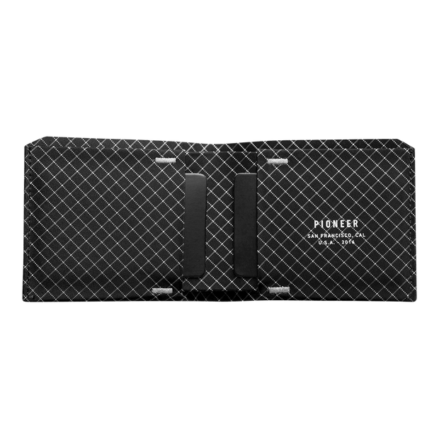 Pioneer Flyfold 10XD Ripstop Bifold Wallet (Black) - Open View