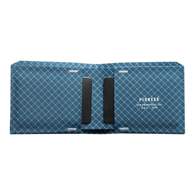 Pioneer Flyfold 10XD Ripstop Bifold Wallet (Blue) - Open View