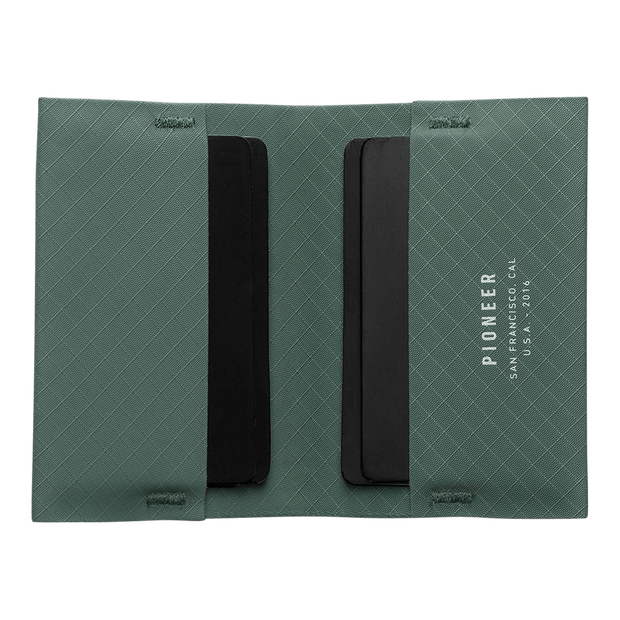 Pioneer Ion 3PN Matte Bifold Wallet (Evergreen) - Open View