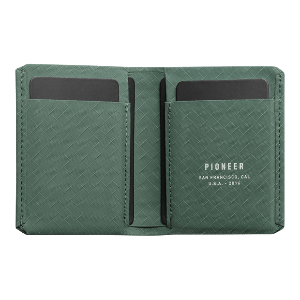 Pioneer Matter 3PN Matte Bifold Wallet (Evergreen) - Open View