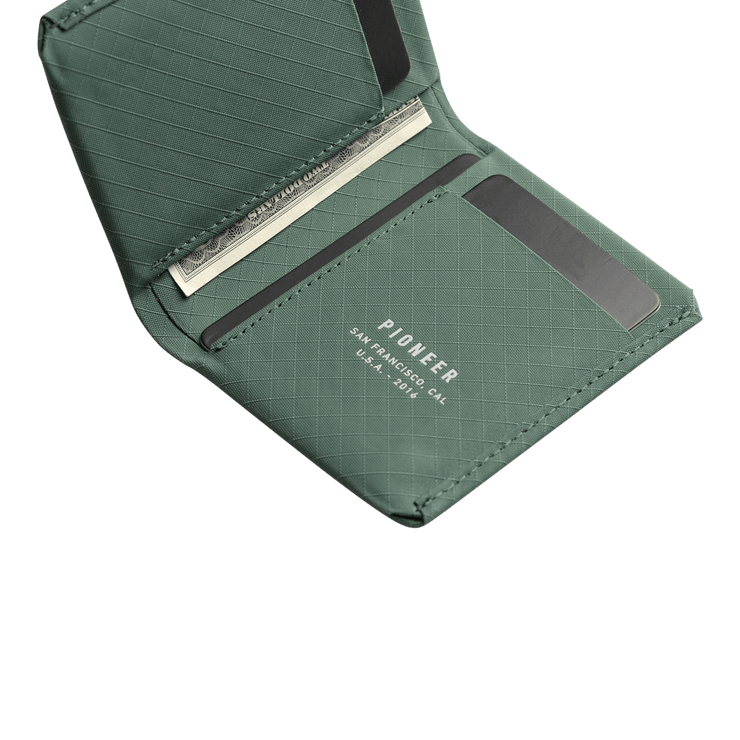 Pioneer Matter 3PN Matte Bifold Wallet (Evergreen) - Cards & Cash