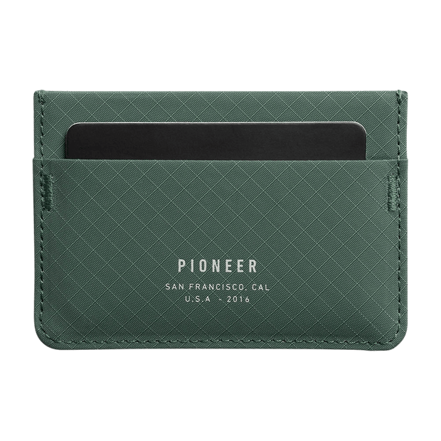 Pioneer Molecule 3PN Matte Card Wallet (Evergreen) - Front View