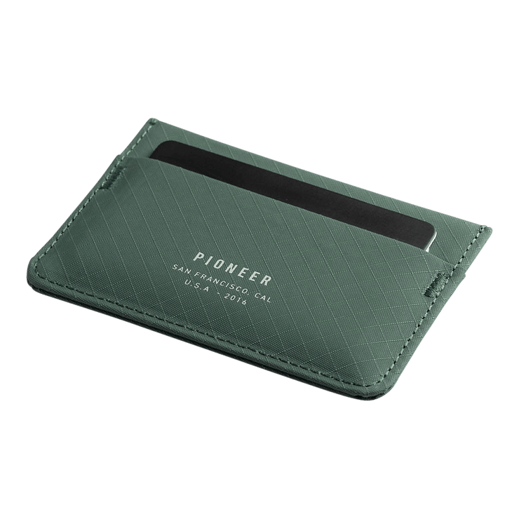Pioneer Molecule 3PN Matte Card Wallet (Evergreen) - Angled View