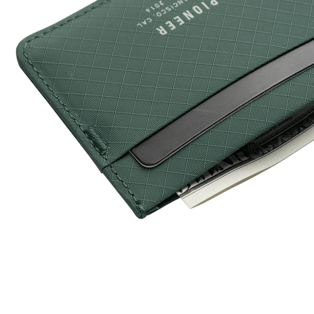 Pioneer Molecule 3PN Matte Card Wallet (Evergreen) - Close Up