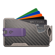 Fantom R 7 Carbon Fibre Wallet - Purple Money Clip