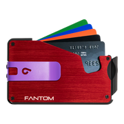 Fantom S 13 Regular Aluminium Wallet (Red) - Purple Money Clip
