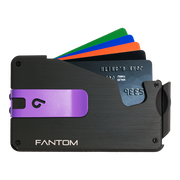 Fantom S 7 Coin Holder Aluminium Wallet (Black) - Purple Money Clip