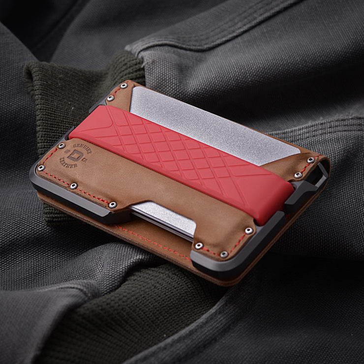Dango D01 Dapper Bifold Special Edition Wallet (Slate Grey) - Red Stitching