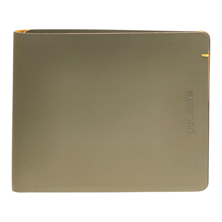 Pacsafe RFIDsafe TEC Bifold Wallet (Utility Green) - Front View