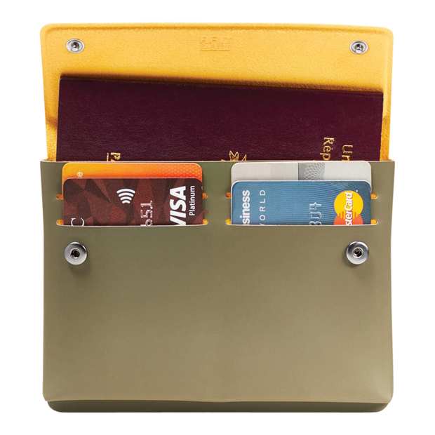 Pacsafe RFIDsafe TEC Passport Wallet (Utility Green) - Open View